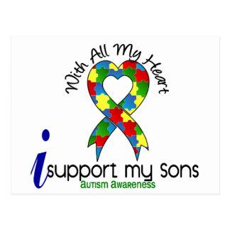 Ayuda del autismo I mis hijos Tarjeta Postal