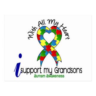 Ayuda del autismo I mis nietos Postal