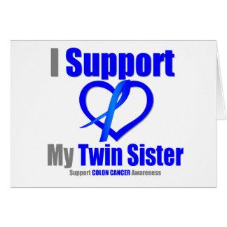 Ayuda del cáncer de colon I mi hermana gemela Tarjeta De Felicitación