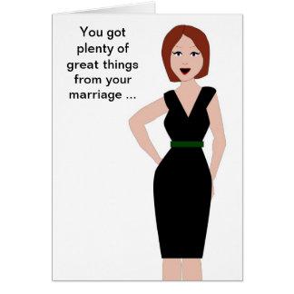 Ayuda del divorcio tarjetón