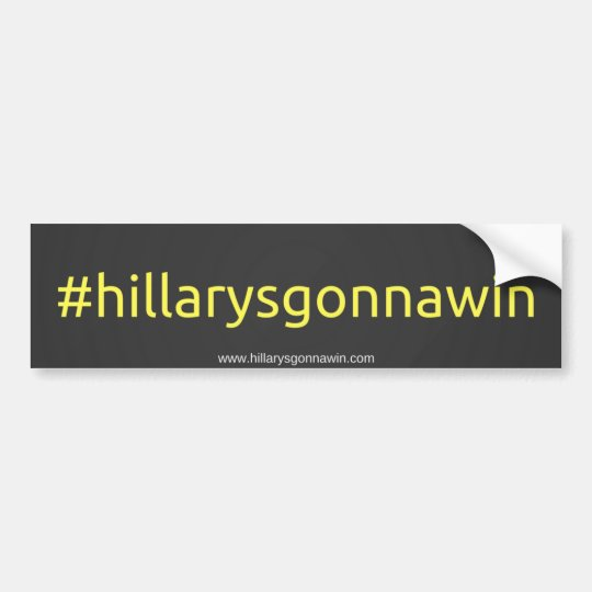 Ayuda hillary Clinton Pegatina Para Coche