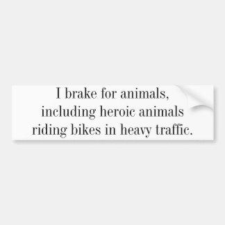 Ayuda que monta en bicicleta pegatina de parachoque