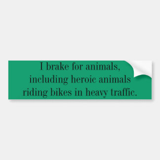 Ayuda que monta en bicicleta etiqueta de parachoque
