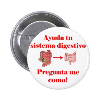 Ayuda tu Sistema Digestivo Chapa Redonda De 5 Cm