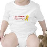 Ayuda viernes rojo (apoye a mi papá) traje de bebé