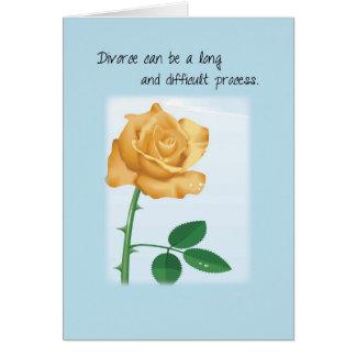 Ayuda y estímulo del divorcio, subiós tarjeta de felicitación