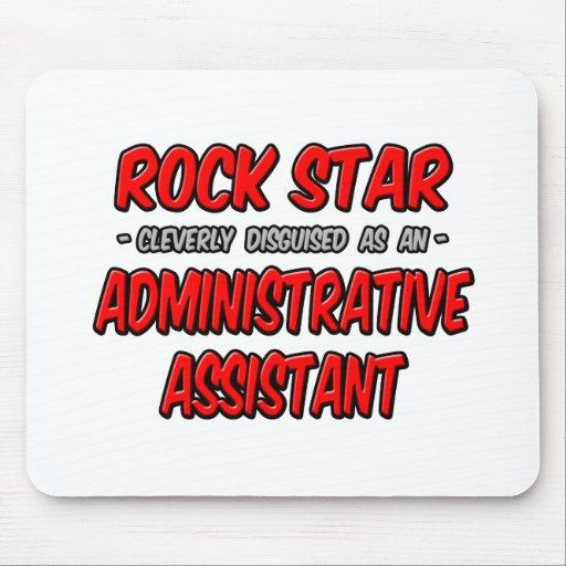 Ayudante administrativo de la estrella del rock… alfombrillas de ratones
