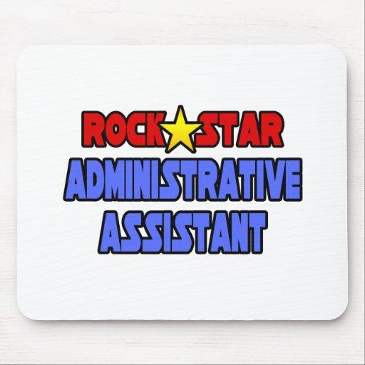 Ayudante administrativo de la estrella del rock tapetes de raton