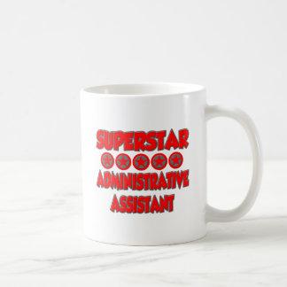 Ayudante administrativo de la superestrella taza