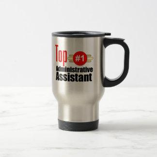 Ayudante administrativo superior tazas de café