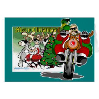 Ayudante Bubba Claus del motorista de Santa Felicitacion
