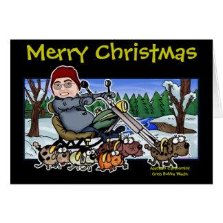 Ayudante Bubba Claus del motorista de Santa Tarjeton