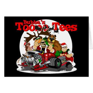 Ayudante Bubba Claus del motorista de Santa Felicitación