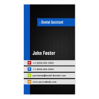 Ayudante de dentista - azul elegante moderno tarjetas de visita