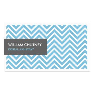 Ayudante de dentista - zigzag azul claro de tarjetas de visita