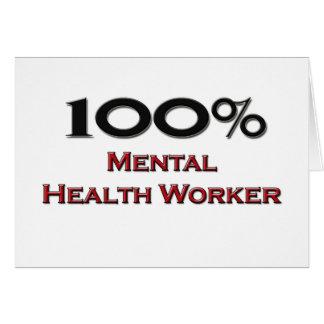 Ayudante de sanidad mental del 100 por ciento felicitación