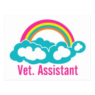 Ayudante del veterinario del arco iris postal