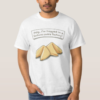 ¡Ayude, yo se atrapan en una fábrica de la galleta Camiseta