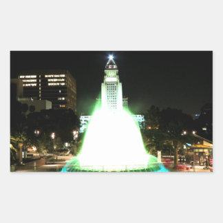 Ayuntamiento Los Ángeles Pegatina Rectangular