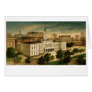 Ayuntamiento Nueva York el vintage Tarjeta De Felicitación