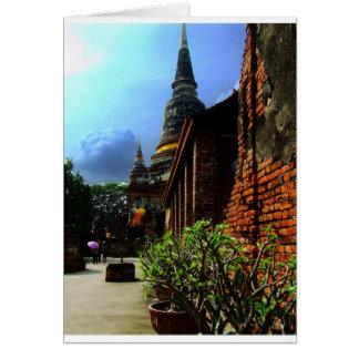Ayutthaya. Wat Yai Chai Mongkol. Tarjeta De Felicitación