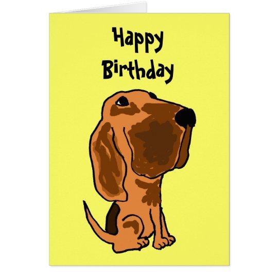 AZ- tarjeta de cumpleaños divertida del sabueso