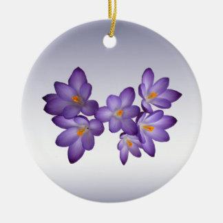 Azafrán púrpura adorno redondo de cerámica