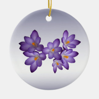 Azafrán púrpura ornaments para arbol de navidad