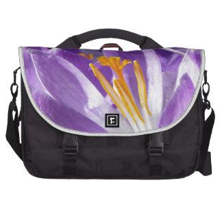Azafrán violeta de la primavera bolsa de ordenador