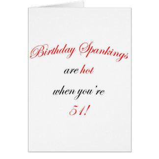 Azote de 51 cumpleaños tarjeta de felicitación