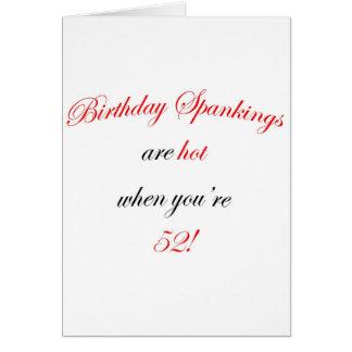 Azote de 52 cumpleaños tarjeta de felicitación