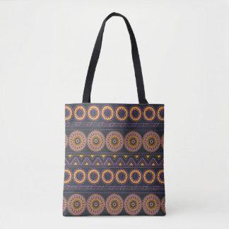 aztec geometric pattern with mandalas bolso de tela