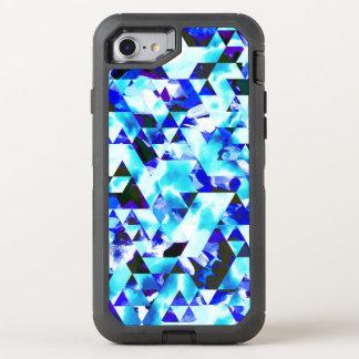 Azteca tribal geométrico de la acuarela azul de la funda OtterBox defender para iPhone 8/7