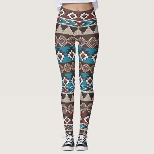 Azteca tribal leggings