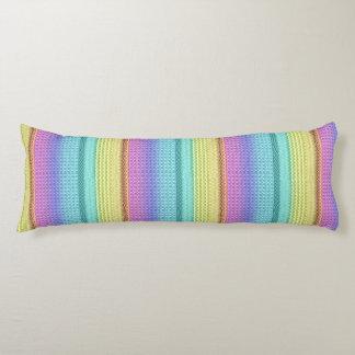 Azteca único del arco iris tribal bohemio de Boho Almohada De Cuerpo Entero