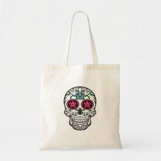 Azúcar colorido lindo Skull Dia de los Muertos Bolso De Tela