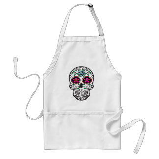 Azúcar colorido lindo Skull Dia de los Muertos Delantal