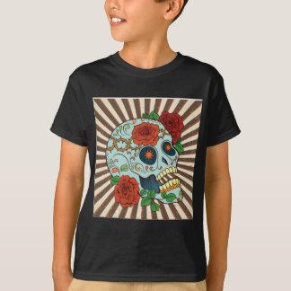 Azúcar enrrollado Skulls Dia de los Muertos Camisetas