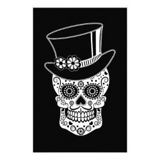 Azúcar Skull-01 del caballero Papelería De Diseño