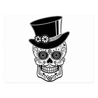 Azúcar Skull-01 del caballero Postal