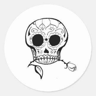 Azúcar Skull Día de los Muertos Pegatinas