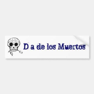 Azúcar Skull Día de los Muertos Etiqueta De Parachoque