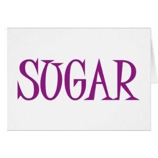 Azúcar Tarjeta De Felicitación