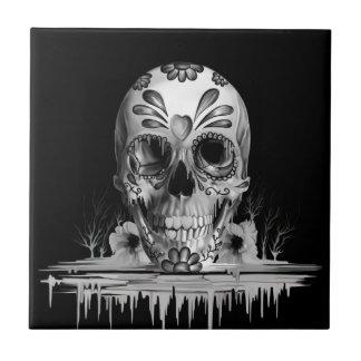 Azúcar tirado, cráneo de fusión del azúcar azulejo de cerámica