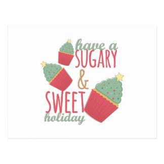 Azucarado y dulce postal