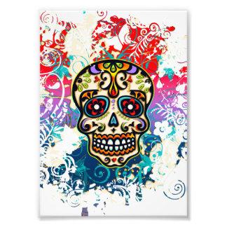 Azucare el cráneo, México, Dias de los Muertos Arte Fotografico