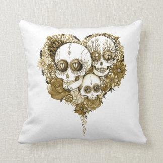 azucare el día del cráneo del amortiguador muerto cojín decorativo