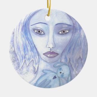 azul 001 jpg de Luna Adorno De Navidad