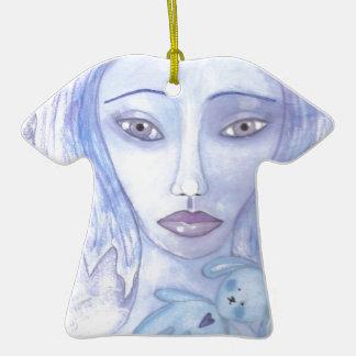 azul 001 jpg de Luna Adornos De Navidad