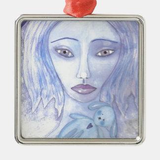 azul 001 jpg de Luna Ornamentos De Navidad